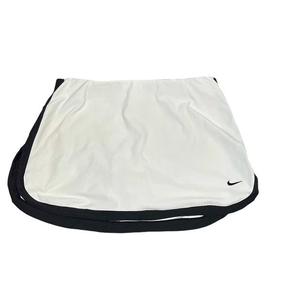 Nike White and black trim Skort